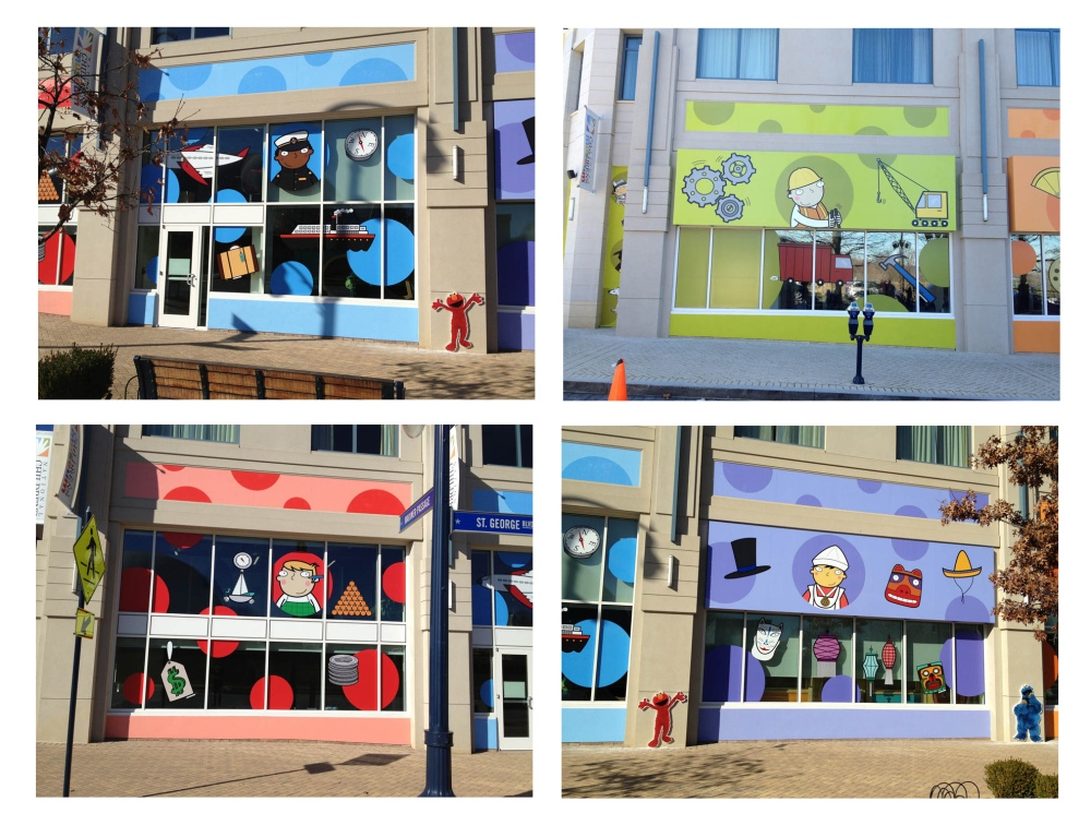 commission for illustrations in october 2013 for the whole exterior facade for the Washington National Children's Museum in the USA.